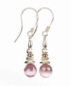 Øreringe med cateye perler
