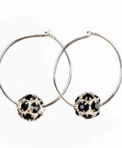 Creoler øreringe med effektfulde perler