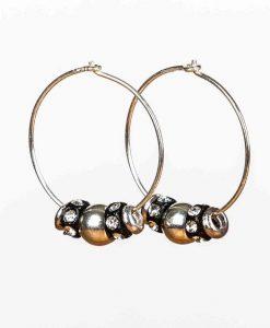 Creoler øreringe med flotte perler