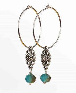 Romantiske øreringe i sølv