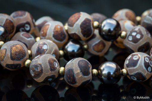 Halskæde med agat perler