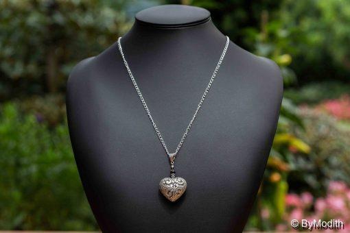 Buttet hjerte vedhæng2