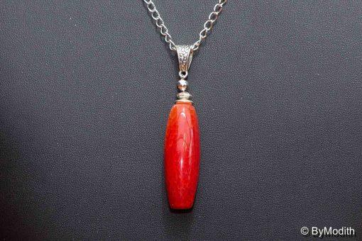 Flot perle i ild agat