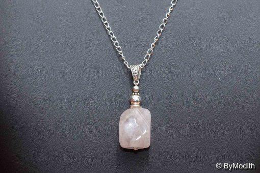 Nugget i rosa quartz
