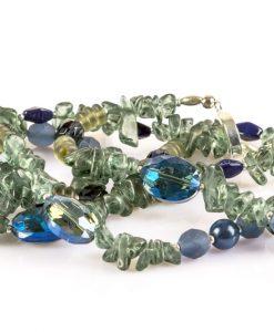 lang blå halskæde