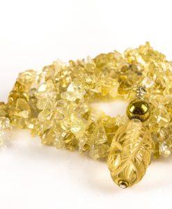 halskæde gylden gul citrin