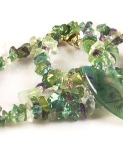 halskæde lila grøn ametyst