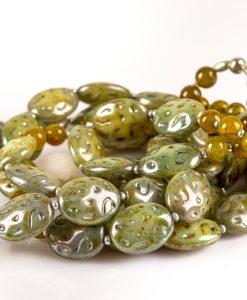 lang halskæde støvet grøn