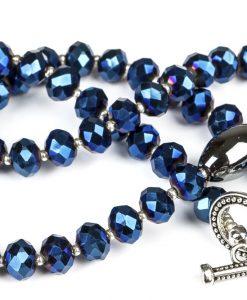 mørkeblå halskæde