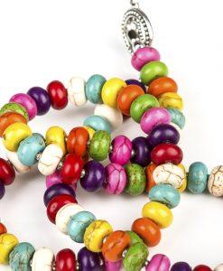 halskaede i magnesit sten i mange farver