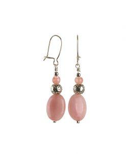 oereringe med lyseroede perler