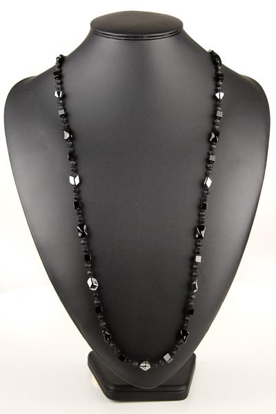 lang halskaede i sort
