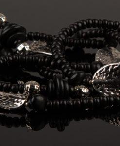 hals kaede i sort og soelv