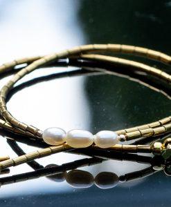 hvide perler smykker