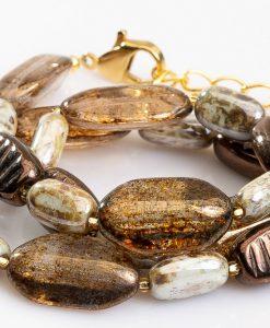 halskaede i brune og gyldne farver