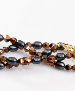halskaede med perler