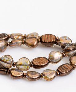 perle kaede i brun og kobber